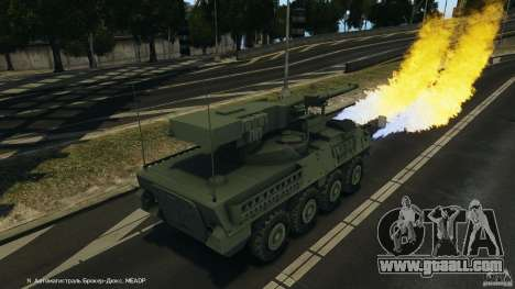 Stryker M1128 Mobile Gun System v1.0 for GTA 4 bottom view