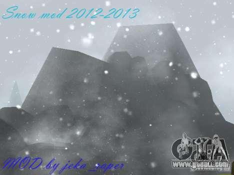 Snow MOD 2012-2013 for GTA San Andreas