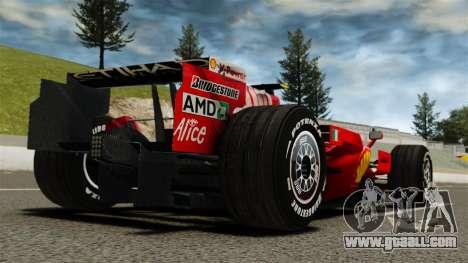 Ferrari F2008 for GTA 4 back left view