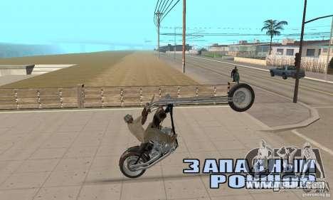 Desperado Chopper for GTA San Andreas back view