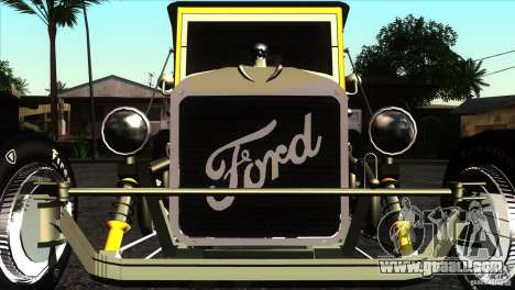 Ford T 1927 Hot Rod for GTA San Andreas inner view