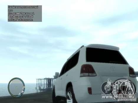Toyota Land Cruiser 200 FINAL for GTA 4 back left view