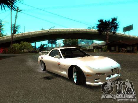 Mazda RX-7 TypeR for GTA San Andreas back left view