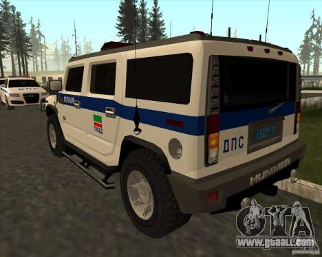 Hummer H2 DPS for GTA San Andreas back left view
