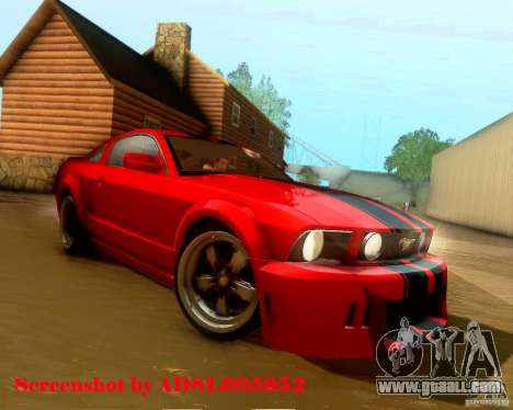 Ford Mustang GT 2005 Tunable for GTA San Andreas engine