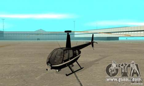 Robinson R44 Raven II NC 1.0 Black for GTA San Andreas left view