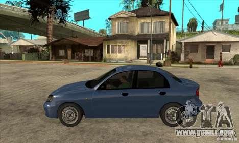 Daewoo Lanos v2 for GTA San Andreas left view