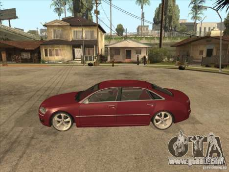 Audi A8 Switze for GTA San Andreas left view