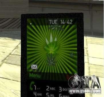 Ganja PhoneCell Theme v2 for GTA 4