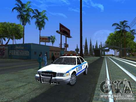 Ford Crown Victoria 2009 New York Police for GTA San Andreas