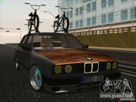 BMW E30 Rat for GTA San Andreas back left view
