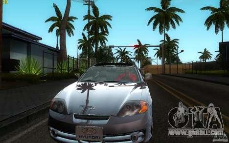 Hyundai Tiburon V6 Coupe 2003 for GTA San Andreas inner view