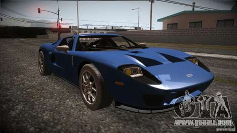 Ford GT for GTA San Andreas back view