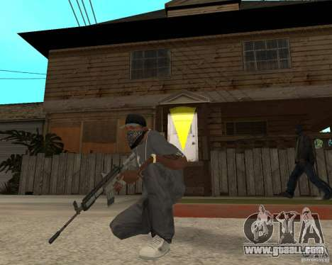 M4A1 with kolliminotarnym sight. for GTA San Andreas third screenshot