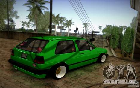 VW Golf MK2 Stanced for GTA San Andreas back left view