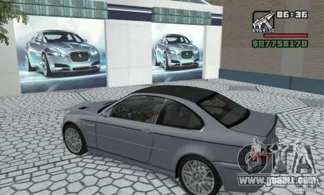 BMW M3 Tunable for GTA San Andreas back view