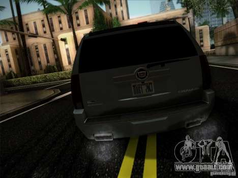 Cadillac Escalade ESV Platinum for GTA San Andreas back left view