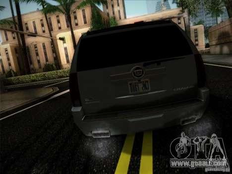 Cadillac Escalade ESV Platinum for GTA San Andreas back left view