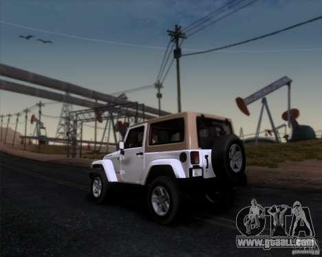 Jeep Wrangler Rubicon for GTA San Andreas left view