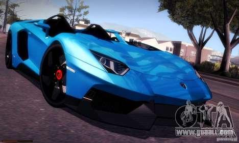 Lamborghini Aventador J for GTA San Andreas inner view