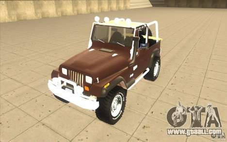 Jeep Wrangler 1986(2) for GTA San Andreas left view