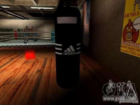 New boxing punching bag for GTA San Andreas fifth screenshot