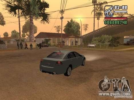 Pontiac G8 GXP for GTA San Andreas back left view