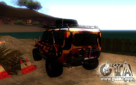 UAZ 4 x 4 for GTA San Andreas back left view
