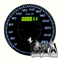 Speedometer IV (11 Skins) for GTA 4