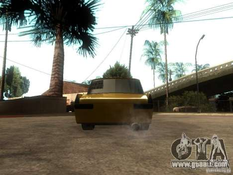 Moskvich 412 Tuning for GTA San Andreas back left view