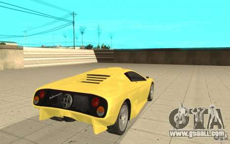 Infernus from GTA 4 for GTA San Andreas back left view