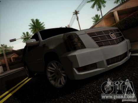 Cadillac Escalade ESV Platinum for GTA San Andreas left view
