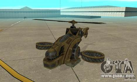 A helicopter from the game TimeShift Brown for GTA San Andreas left view