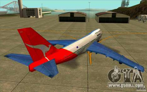 Boeing Qantas 747-400 for GTA San Andreas back left view