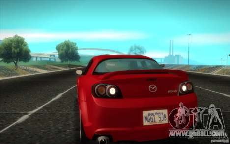 Mazda RX-8 R3 2011 for GTA San Andreas back left view
