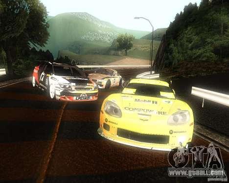 Chevrolet Corvette Drift for GTA San Andreas inner view