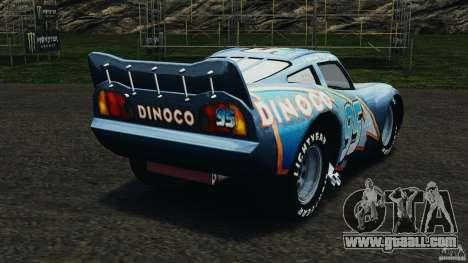 Lightning McQueen Dinoco for GTA 4 back left view