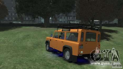 Land Rover Defender Station Wagon 110 for GTA 4 left view