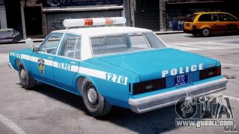 Chevrolet Impala Police 1983 v2.0 for GTA 4 upper view