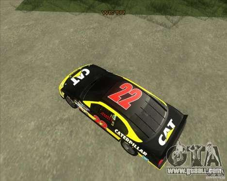 Dodge Nascar Caterpillar for GTA San Andreas right view