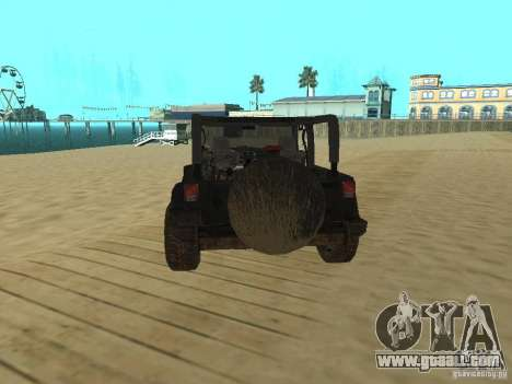Jeep Wrangler SE for GTA San Andreas back left view