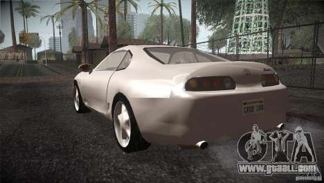 Toyota Supra for GTA San Andreas back left view