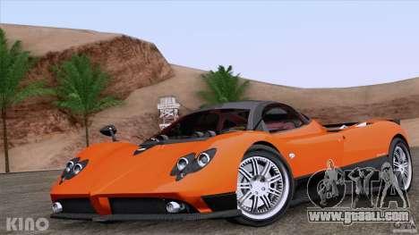 Pagani Zonda F for GTA San Andreas interior