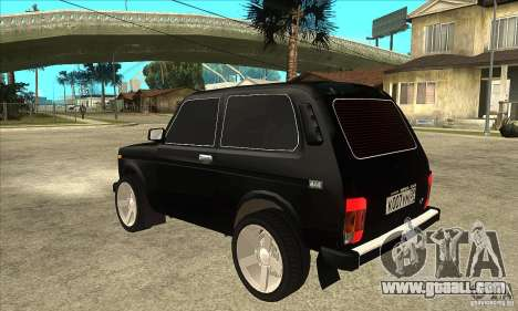 VAZ 21213 NIVA tinted for GTA San Andreas back left view