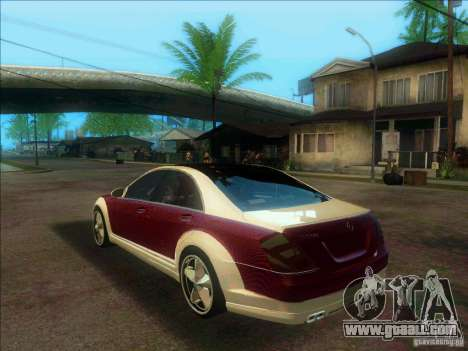 Mercedes-Benz S600 AMG WCC Edition for GTA San Andreas back left view