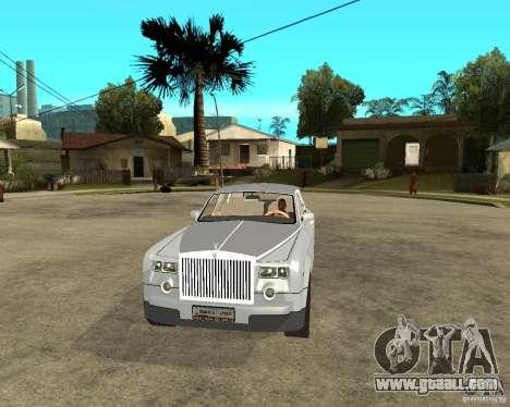 Rolls-Royce Phantom (2003) for GTA San Andreas back view
