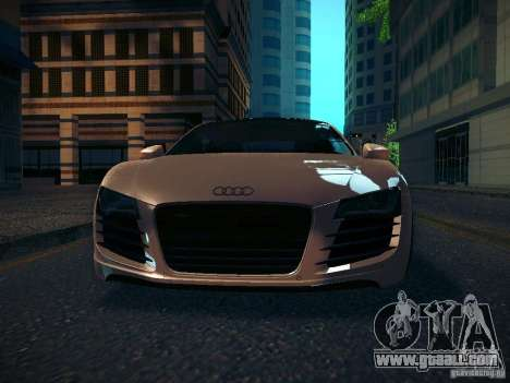 Audi R8 V10 for GTA San Andreas inner view