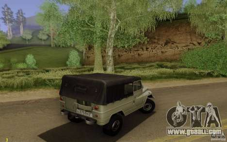 UAZ 460B for GTA San Andreas back left view