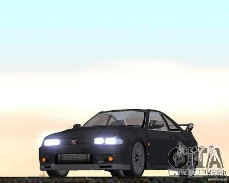 Nissan Skyline GT-R R-33 for GTA San Andreas