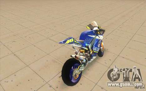 Yamaha M1 Rossi for GTA San Andreas back left view
